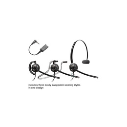 Poly Plantronics HW540 EncorePro convertible headset w MO300 cord