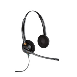 Poly Plantronics EncorePro HW520 Over-The-Head Stereo Noise Cancelling QD Corded Headset Top
