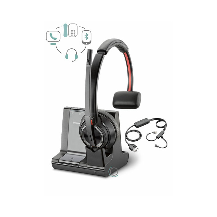 Poly Plantronics Savi W8210 Wireless Headset w APC-43 EHS