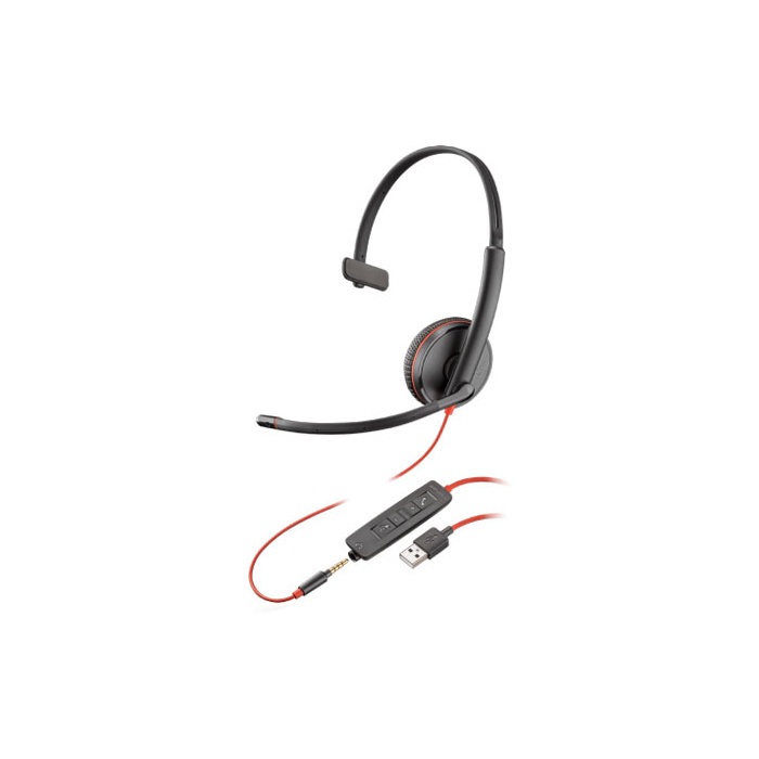 Poly Plantronics Blackwire C3215 UC Stereo USB-A & 3.5mm Corded Headset