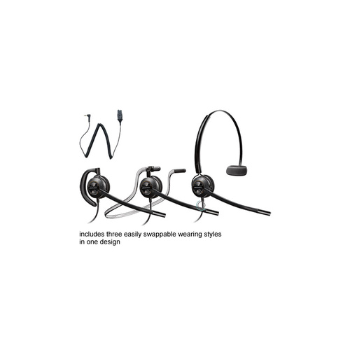 Plantronics HW540 EncorePro convertible headset w 3.5mm