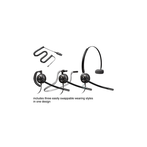 Plantronics HW540 EncorePro convertible headset w HIC-1 cable