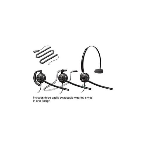 Plantronics HW540 EncorePro convertible headset w HIS-1 cord